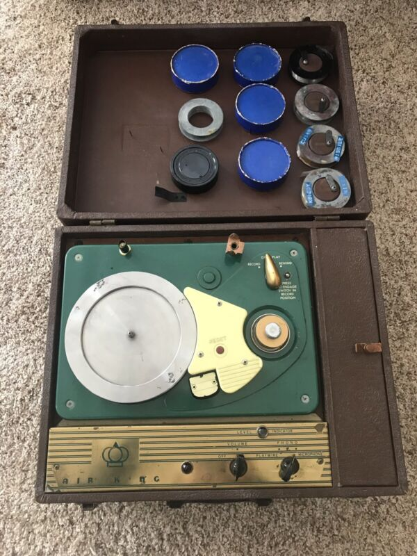 """""""Working"""" Air King Vintage Wire Recorder plus 10 Wire Disks"""