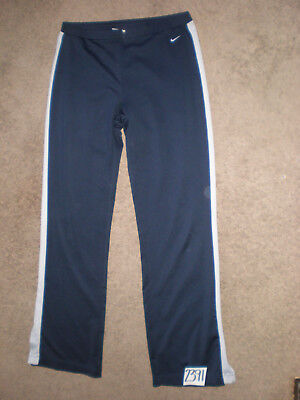(Small) Nike YOGA Exercise Activewear DAR BLUE Gusseted Crotch Stretch Pants