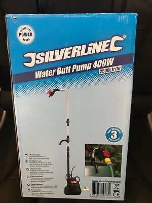 Pump Submersible Water Butt 400W Garden Watering Car Washing 2500 LTR / Per Hr