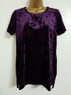 Purple Velvet Bluse (NEW OASIS 6-18 Purple Crushed Velvet Evening Top Blouse )