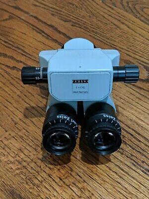 Carl Zeiss 0-180deg Inclinable Binocular W10x Mag Eyepiece For Opmi Microscope