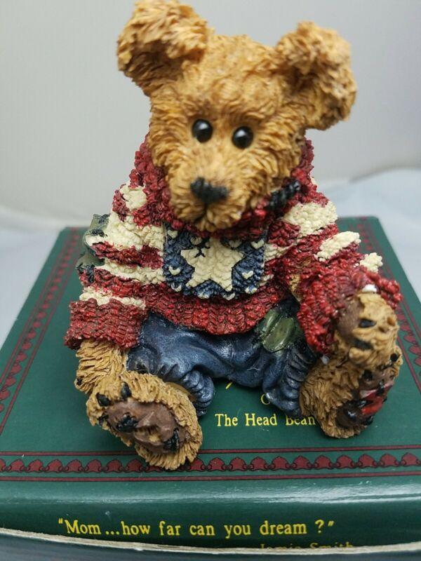 "Boyds Bears Figurine, ""Eddie... Proud to be a Bearmerican"" 228312, 1st Edition"