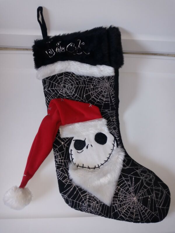 "Disney Parks Jack Skellington Christmas Stocking The Nightmare Before 16"" Santa"