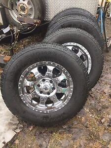 "17""  6 bolt Ultra wheels and Mickey Thompson rubber"