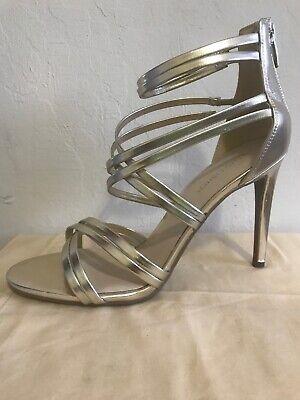 NEW!! Marc Fisher Rhoda Light Gold Scrappy Sandals 4
