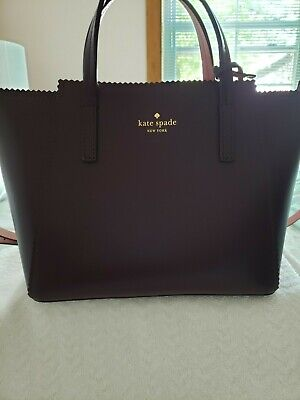 Kate Spade Turner Roaf Small Loryn Purse Mahogany Rich Rum Raisin Pre-Owned.