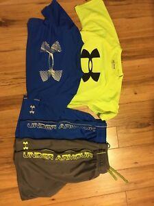 Youth Medium, Under Armour Shorts/Tshirts (Pending Pickup)