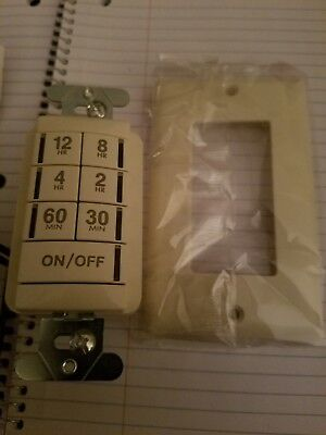 Sensorswitch Programmable Interval Timer Switch Pts-720-al 12 Hour Light Almond