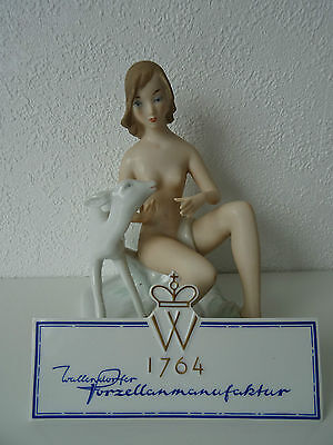 Wallendorf Porzellanfigur Frauenakt signiert K. STEINER