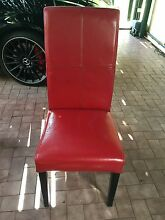 5 red leather chairs Pagewood Botany Bay Area Preview
