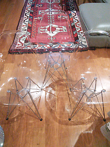 Eames Replica Dining Chairs - Clear - Set of 3 Perth Perth City Area Preview
