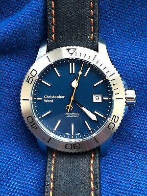 Christopher Ward C60 Trident 316L Limited Edition automatic watch, blue dial