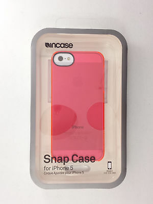 Incase iPhone SE iPhone 5 iPhone 5S Snap Hard Shell Case Cover Transparent Pink