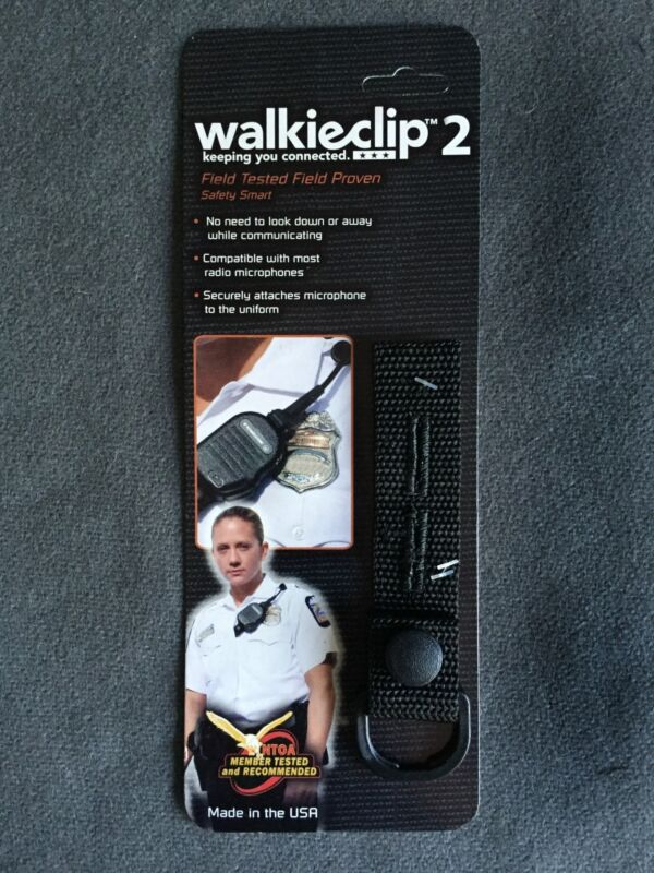 WalkieClip2 Speaker Mic Holder Shirt Clip Attachment Police/Fire/EMT