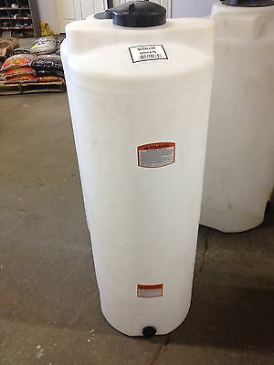 50 Gallon Vertical Poly Storage Plastic Tank Water Harvest Or Chemical Storage