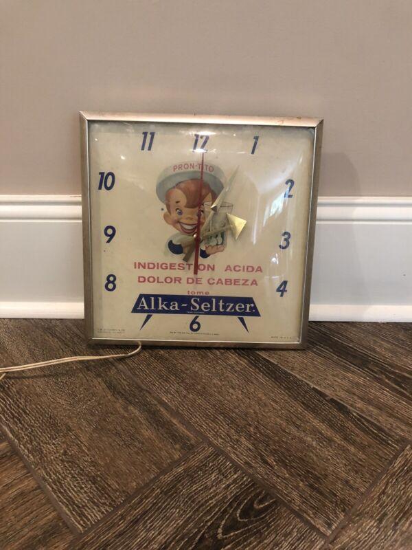 alka seltzer Clock