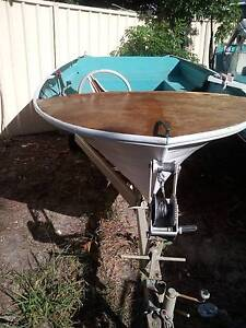 12 foot fibreglass boat and trailer Woy Woy Gosford Area Preview