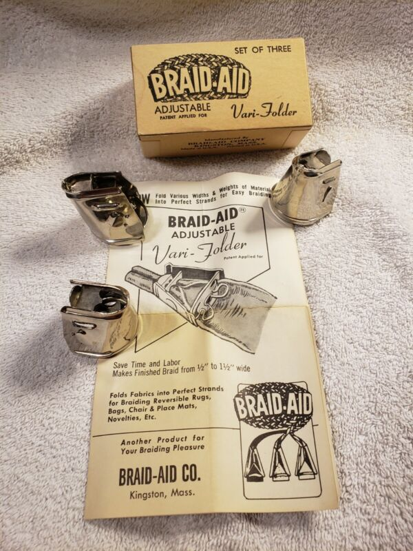 Vintage Braid-Aid Rug Braiding Tools Braid-Aid 3 Vari Holders etc