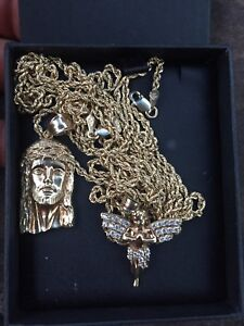 10k Gold Rope Chains + Pendant