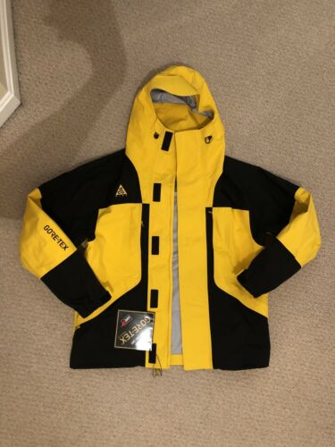 Nike ACG Gore-Tex Jacket HD Yellow Black 2019 Mens Size Smal