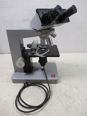 Leitz Wetzlar Hm-lux Binocular Microscope W Objective Lenses Eyepieces