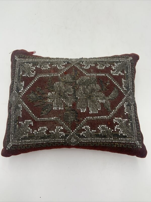 Antique Large Beaded Victorian Pin Cushion