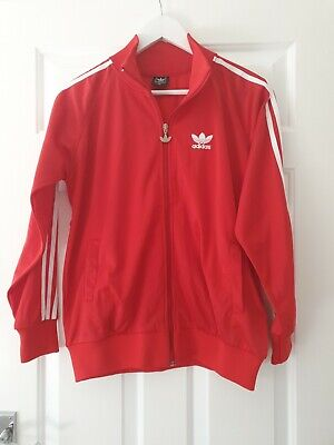 🔴⚪🔴 Adidas Firebird Mens Medium Red Tracksuit Jacket Track Top Retro Vintage