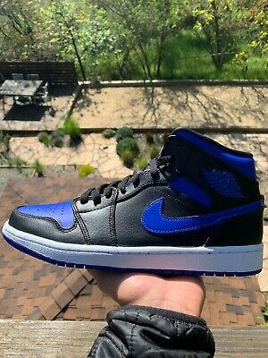 Nike Air Jordan 1 Mid, Size 8 and 9 - Black/White/Hyper Royal