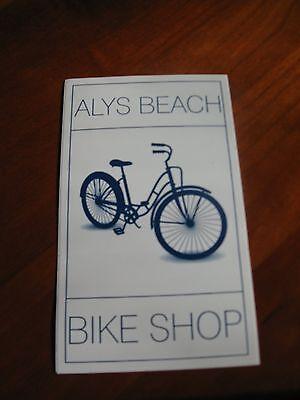 Alys Beach Bike Shop Bumper Sticker Car Decal