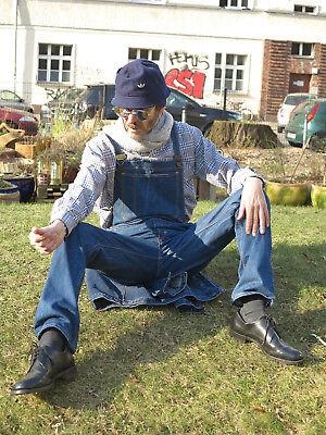 Männer Latzhose Hose Jeans blau 90er True VINTAGE men trousers dungarees blue