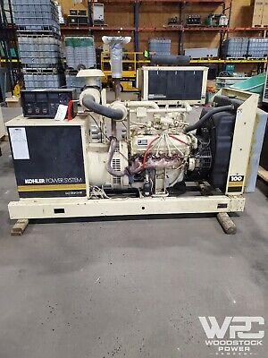 Used 100 Kw Kohler 100100rz282 Natural Gas Generator