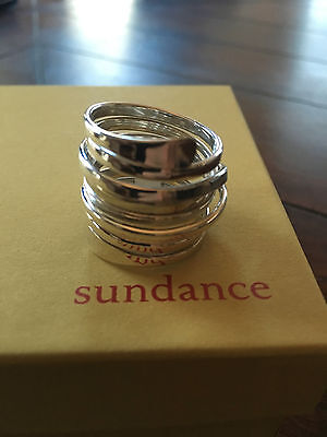 NEW Sundance Catalog Sterling Silver Wraparound Ring 8/7 WIDE band