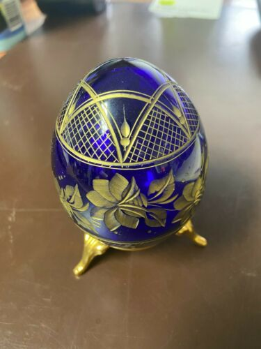 FABERGE RUSSIAN CRYSTAL EGG