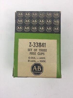 Plc Setting (ALLEN BRADLEY Z-33841 SET OF THREE FUSE CLIPS 0-30A 600V 31-60A)