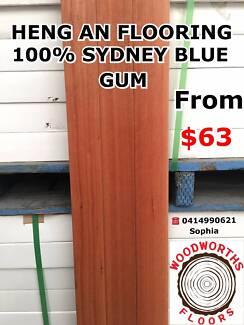 WAREHOUSE SALE!SYDNEY BLUEGUM SOLID TIMBER FLOORING 100% $63