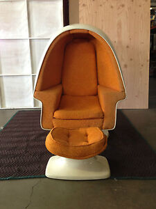 vintage retro 1970s lee west alpha chamber egg chair 100 original eames ebay. Black Bedroom Furniture Sets. Home Design Ideas