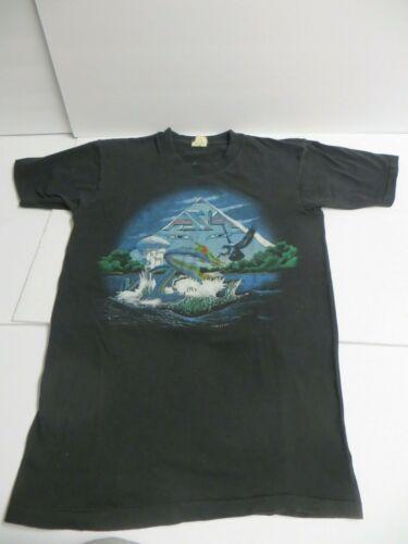 "Vintage 1983 ASIA Band ""Invasion"" Concert Tour Shirt - Screen Stars"