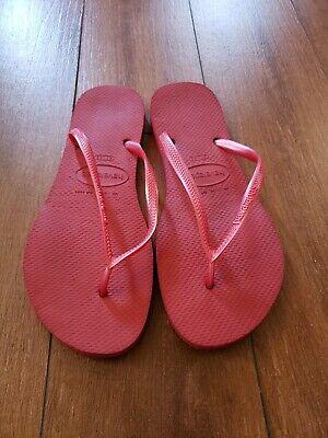 Havaianas Flip Flop sandals red 11-12W women store (Havaianas Stores)