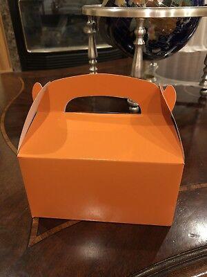 6 ORANGE PARTY FAVOR TREAT BOXES BAG HALLOWEEN BIRTHDAYS WEDDING BABY SHOWER](Halloween Baby Showers)