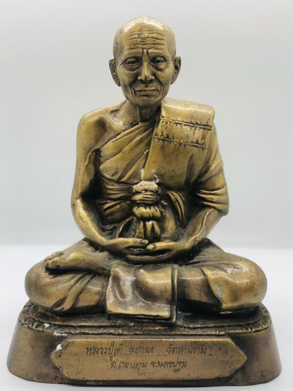 Thai Buddhist Monk Statue LP Tae Wat Sam Ngam