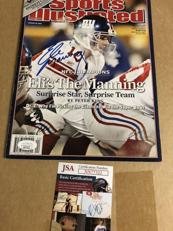 Autographed Eli Manning Sports Illustrated JSA Certified Signed