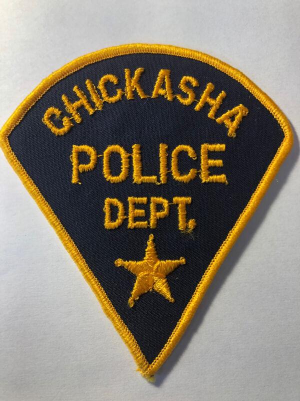 Vintage Chickasha Oklahoma Police Patch