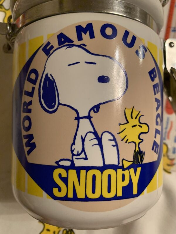 Peanuts Snoopy Kitchen Canister Heavy Perfect Super Rare