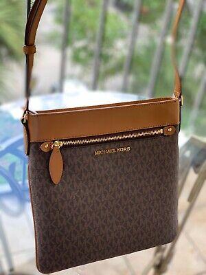 Michael Kors Women Nylon Leather Crossbody Messenger Bag Handbag Purse Shoulder