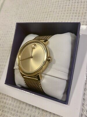 Movado Bold 44mm Gold Tone Stainless Steel Men's Watch - (3600260)