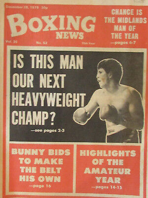 Boxing News Magazine   28 12 79   Gordon Ferris Cover