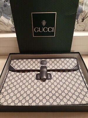 Authentic Vintage Gucci Bag Attache Case Briefcase Business slipcase