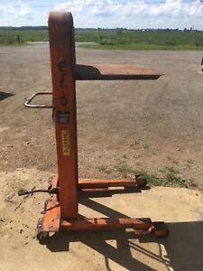 Levage hydraulique manuelle transpalette