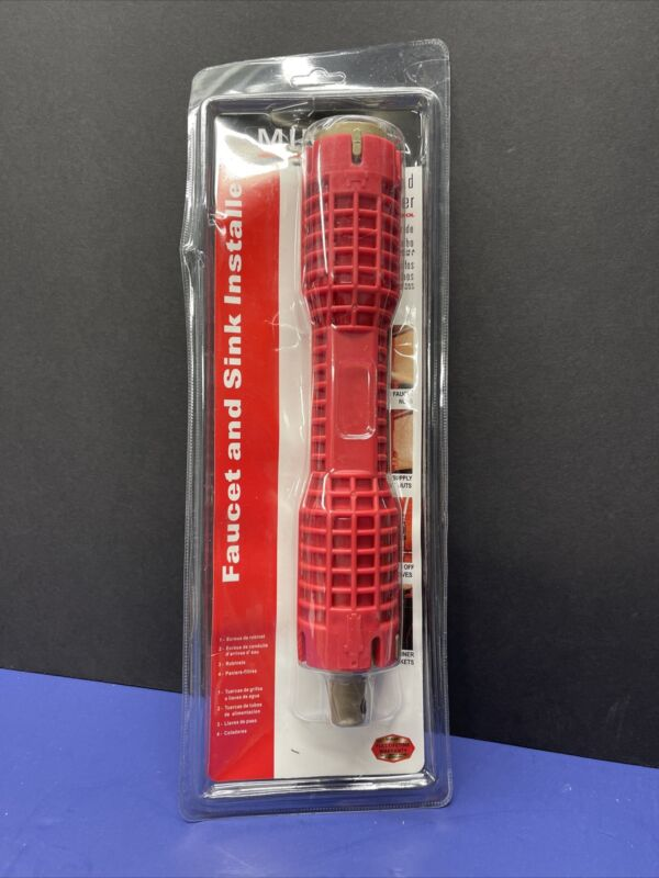 NEW MINGYI Faucet And Sink Installer Multifunctional Wrench Plumbing Red Tool