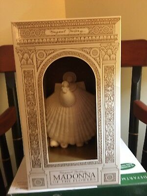 """6""""  MARGARET FURLONG MADONNA OF THE FLOWERS ANGEL SHELL CHRISTMAS ORNAMENTS"""